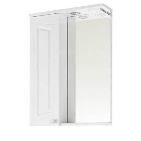 Зеркало Vod-ok Адам 65 см Белый ЛВ
