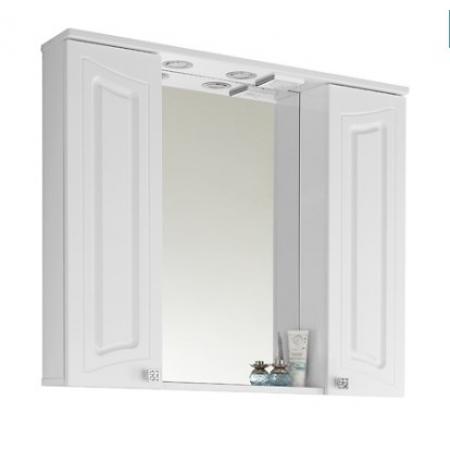 Зеркало Vod-ok Адам 90 см Белый
