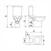 Унитаз компакт напольный Cersanit Carina Clean On P-KO-CAR011-3/5-COn-DL сиденье с дюропластом slim