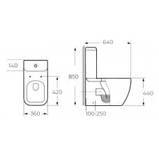 Унитаз Milleau напольный WAX 8303 (унитаз + сиденье из дюропласта с микролифтом)