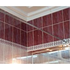Карниз для ванны стальной прямой хром