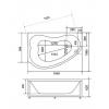 Акриловая ванна Bellsan Дарина 1650*1100*620 R с гидромассажем