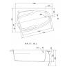 Акриловая ванна Cersanit Joanna 1400*900R WA-JOANNA*140-R-W без гидромассажа