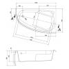 Акриловая ванна Cersanit Joanna 1600*950R WA-JOANNA*160-R-W без гидромассажа