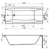 Акриловая ванна Cersanit Virgo 1800x800 WP-VIRGO*180 без гидромассажа