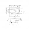 Ванна акриловая Polyagram Firenca 140*70