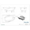 Ванна Astra-Form Селена белая 170х100 левая