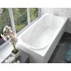 Ванна из литиевого мрамора Эстет Альфа 180x80 белая без гидромассажа