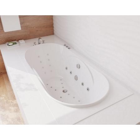 Ванна из литьевого мрамора Эстет Астра 170x80 белая без гидромассажа