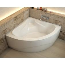 Ванна из литиевого мрамора Эстет Аврора 140x140 белая без гидромассажа