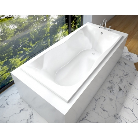 Ванна из литьевого мрамора Эстет Бета 170x80 белая без гидромассажа