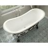 Ванна из литиевого мрамора Эстет Бостон 180х74 белая без гидромассажа