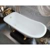 Ванна из литиевого мрамора Эстет Царская 150*73 белая без гидромассажа