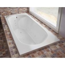 Ванна из литиевого мрамора Эстет Честер 170x75 белая без гидромассажа