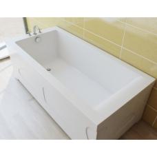 Ванна из литиевого мрамора Эстет Дельта 180x80 белая без гидромассажа