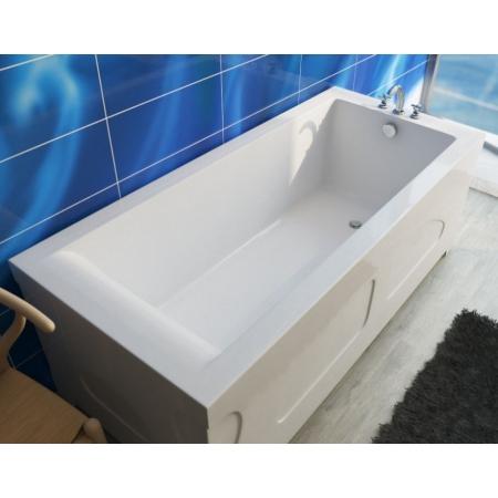 Ванна из литиевого мрамора Эстет Дельта 160х70 белая без гидромассажа