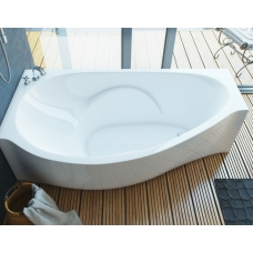 Ванна из литиевого мрамора Эстет Грация L 170х94 белая без гидромассажа