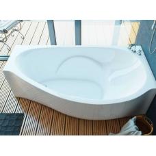 Ванна из литиевого мрамора Эстет Грация R 170х94 белая без гидромассажа