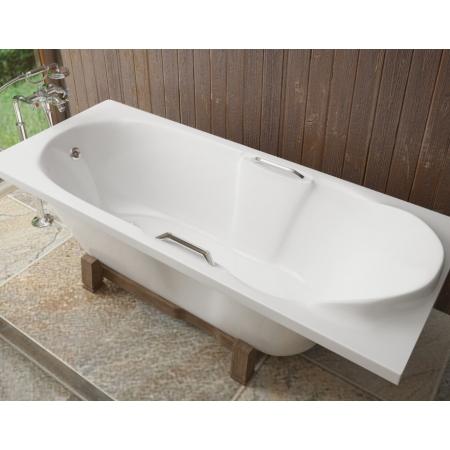 Ванна из литиевого мрамора Эстет Камелия 180x75 белая без гидромассажа