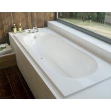 Ванна из литиевого мрамора Эстет Лаура 170x70 белая без гидромассажа