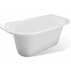 Ванна из литиевого мрамора Эстет Лира  1700*800 белая без гидромассажа