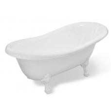 Ванна из литьевого мрамора Эстет Марсель  1700*800 белая без гидромассажа