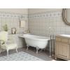 Ванна из литиевого мрамора Эстет Венеция L 1700*800 белая без гидромассажа