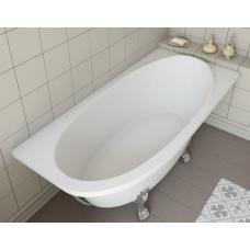 Ванна из литьевого мрамора Эстет Венеция R 1700*800 белая без гидромассажа