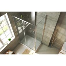 BRAVAT Line BS120.3101A Душевой уголок прямоугольный с одной раздвижной дверью 1200х800х2000 мм профиль полированный алюминий, стекла прозрачные 6мм/easy clean, без поддона