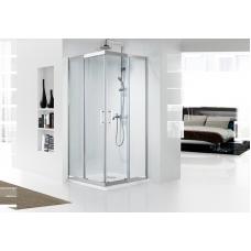 BRAVAT Stream BS090.2204S Душевой уголок квадратный с двумя раздвижными дверьми 900х900х2000 мм профиль нержавеющая сталь, стекла прозрачные 8мм/easy clean, без поддона