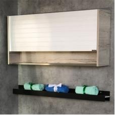Шкаф подвесной Comforty Клеон-120 белый/дуб дымчатый (00-00000823)
