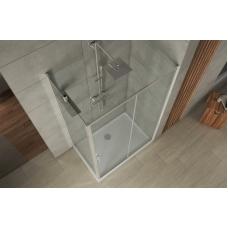 BRAVAT Drop BS120.3100A Душевой уголок с одной раздвижной дверью 1200х800х2000 мм профиль полированный алюминий, стекла прозрачные 6мм/easy clean, без поддона