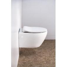 Сиденье белое с металлическими креплениями и с системой Soft close Belbagno Prospero