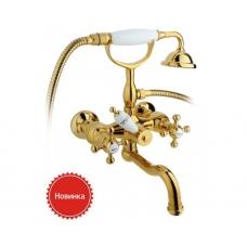 Смеситель Timo Nelson 1944YCR gold (ванна кор. излив)
