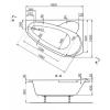 Ванна акриловая Polyagram Rio 160*105 (левая)