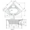 Ванна акриловая Polyagram  Athena 125*125