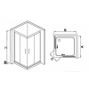 Душевой уголок квадратный Royal Glass of Water RGW HO-312 (RGW HO-31+ Z-42(2шт) 120x120х190 см стекло прозрачное (Easy Clean)