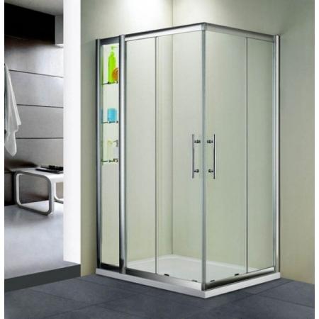 Душевой уголок прямоугольный с полочками Royal Glass of Water RGW HO-43 серия Hotel 90x120х190 см прозрачное стекло (Easy Clean)
