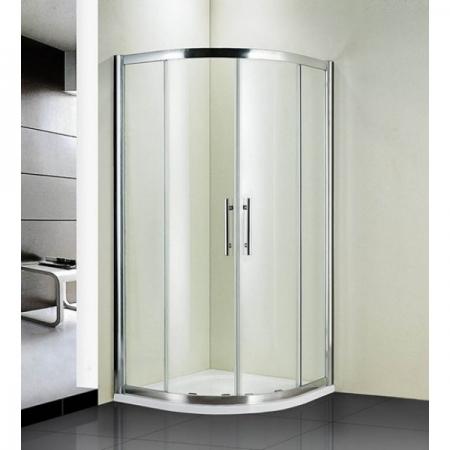 Душевой уголок полукруглый Royal Glass of Water RGW HO-511 (с двумя боковыми стенками 300 мм) 130х130х190 см прозрачное стекло (Easy Clean)