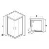 Душевой уголок квадратный Royal Glass of Water RGW CL-32 серия Classik 90х90х185 см стекло шиншилла