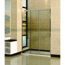 Душевая дверь раздвижная трехстворчатая Royal Glass of Water RGW CL-11 серия Classic (155-160)х185 см стекло матовая полоска