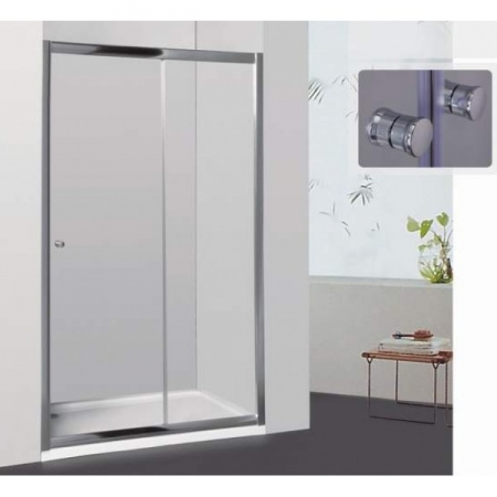 Раздвижная душевая дверь Royal Glass of Water RGW CL-12 серия Classik 150х185 см стекло шиншилла