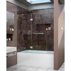 Шторка на ванну распашная Royal Glass of Water RGW SC-13 серия Screen 110х150 см стекло матовое