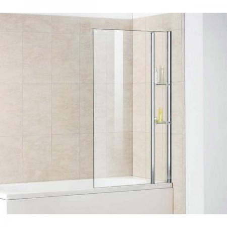 Шторка на ванну неподвижная с полочками Royal Glass of Water RGW SC-53 серия Screen 80х150 см стекло прозрачное (Easy Clean)