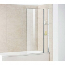 Шторка на ванну неподвижная с полочками Royal Glass of Water RGW SC-54 серия Screen 80х150 см стекло прозрачное (Easy Clean)