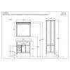 Комплект мебели Opadiris Мираж 80