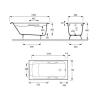 Чугунная ванна  Jacob Delafon Parallel 150×70 с отверстиями для ручек.