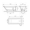 Чугунная ванна  Jacob Delafon Parallel 170×70