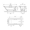 Чугунная ванна  Jacob Delafon Parallel 170×70 с отверстиями для ручек.