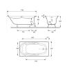 Чугунная ванна Jacob Delafon Adagio 170×80 с отверстиями для ручек.